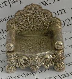 Silver God Singhasan 707.16 .Artistically designed a beautiful singhasan .