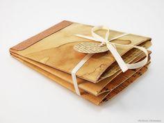 Gutscheine - Gutschein Geldgeschenk Vintage Album Bronze Kupfer - ein Designerstück von rainbowcaraways bei DaWanda