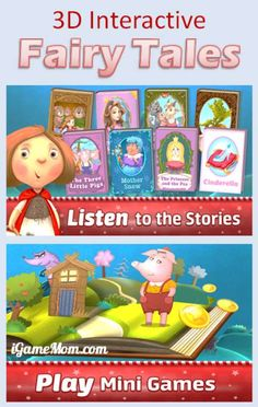 Interactive 3D pop-up fairy tales book app for kids - the first book is always FREE, and 3 more Free books during the holiday. #kidsApps