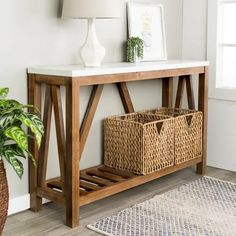 Rustic charm can be yours when you add this 52 inch A Frame console table to your living room, entryway or hallway .The marble and walnut two tone finish bring the perfect touch of aesthetic appeal while the spacious tabletop and open slatted bottom shelf Living Room Furniture, Home Furniture, Living Room Decor, Antique Furniture, Console Table Living Room, Modern Furniture, Rustic Furniture, Console Table Decor, Street Furniture