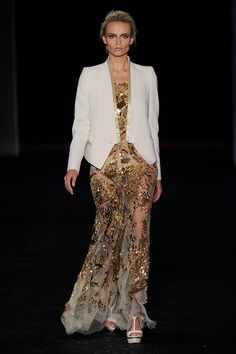A look from the Roberto Cavalli Spring 2012 RTW collection.