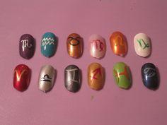 Zodiac Nails by hatterlet.deviantart.com on @deviantART