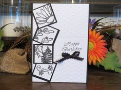 Happy Birthday Card, Encouragement Card, Thank You Card, Card for Her, Card for wife, Card for Friend, Flower Card, Black and White Nature by ACardOccasion on Etsy