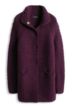 """ru_knitting: Пятничная болталка 26 декабря 2014 г. """"This post was discovered by Анн"""", """"The Esprit Online-Shop offers a large selection of high qua Chunky Knit Cardigan, Mohair Sweater, Long Cardigan, Knitted Coat, Hand Knitted Sweaters, Handgestrickte Pullover, Online Yarn Store, Gilet Crochet, Coat Patterns"""