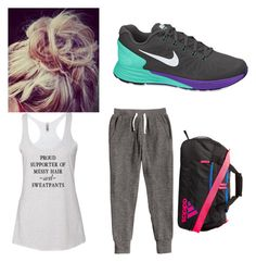 Work Out by mag11rich on Polyvore featuring polyvore, fashion, style, NIKE, adidas and clothing