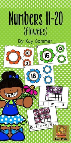 Composing and decomposing numbers 11-20 with this flower / spring themed product - includes number bonds, ten frames