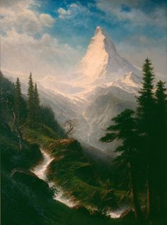 This dramatic mountain view was added to the Mansion collection in the  1960s by Laurance Rockefeller, who had climbed the Matterhorn as a young  man. It han...