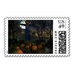 Halloweens Harvest - Halloween Postage