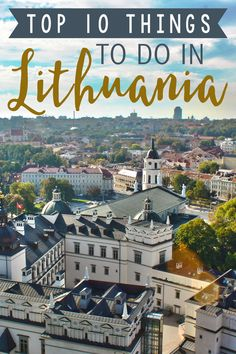 Top Things to Do in Lithuania Lithuania is still fairly off the beaten path, but there's no reason for it to be-- here are the top ten things to do in Lithuania! Cool Places To Visit, Places To Travel, Travel Destinations, Holiday Destinations, Travel Things, Voyage Europe, Europe Travel Guide, European Destination, European Travel