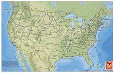 U.S. States based on watersheds.