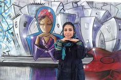 street art by Shamsia Hassani, first Afghan graffiti artist