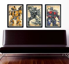 Hey, I found this really awesome Etsy listing at https://www.etsy.com/listing/233937774/transformers-poster-set-of-3-wall-decor