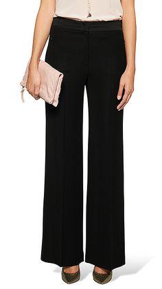 Pantalon met een wijd silhouet | marc-cain.com/nl