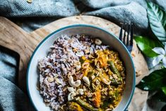 Vegetariánské Red Curry s mungo fazolkama