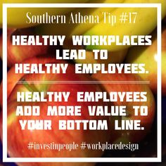 Invest in healthy workplaces. Healthy employees are more productive. #southernathenatips #investinpeople #workplacedesign #fruitbasket #Nashville #realtor #healthyliving We know how to design a workplace to increase #happiness and #revenue