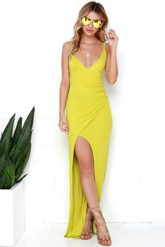 Anaconda Chartreuse Maxi Dress at Lulus.com!