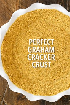 Easy Graham Cracker Crust Recipe for Pies and Cheesecakes This graham cracker crust is easy to make and delicious, made from scratch with only four ingredients! It won't fall apart and it's perfect for baked pies, no bake pies and cheesecakes! Gluten Free Graham Crackers, Chocolate Graham Crackers, Homemade Graham Cracker Crust, Graham Cracker Crumbs, Gram Cracker Crust Recipe, Graham Cracker Recipes, Cheesecake Crust, Cheesecake Recipes, Pumpkin Cheesecake