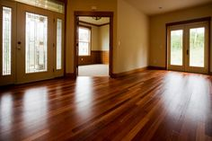 Clean wood floors with vinegar and vegetable oil. 1 part white vinegar to 1 part vegetable oil to give it a great shine. Just combine the two, grab a rag, and rub it in like you are polishing a car. Be ready to be surprised by the shine!