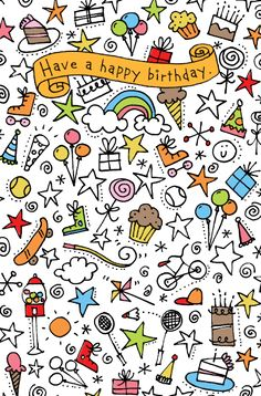 how to draw doodles for kids - : Yahoo India Image Search results Birthday Greetings, Birthday Wishes, Birthday Cards, Happy Birthday Doodles, Birthday Ideas, Doodles Zentangles, Doodle Drawings, Doodle Art, Sketch Note