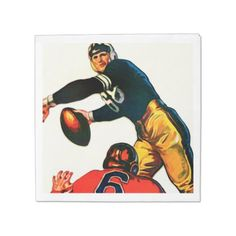 #party - #Vintage Football Paper Luncheon Napkin