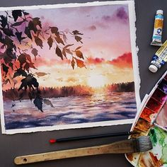 watercolor art Beautiful watercolor paintings by magrish - artswatercolor for more! - Check out our friends share_sketches Watercolor Illustration, Watercolor Art, Simple Watercolor, Arte Inspo, Art Aquarelle, Watercolor Landscape Paintings, Painting Abstract, Beautiful Paintings, Creative Art
