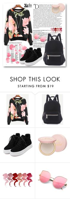 """""""SheIn 7/XIII"""" by belmina-v ❤ liked on Polyvore featuring Balmain, WithChic and Too Faced Cosmetics"""