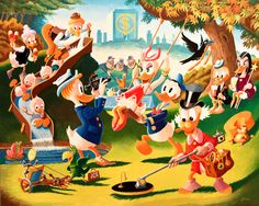 Holiday in Duckburg - Reproduced after Carl Barks original by the Italian artist Gil