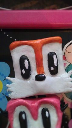 Squareish Miles Tails Prower magnet by TokyoChan on Etsy, £3.00