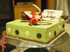 Matcha White Chocolate Mousse Cake #matcha