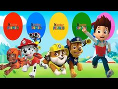 Colors for Children to Learn with PAW Patrol Team, Colours for Kids to L...