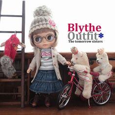 ◆Blythe Outfit◆ブライス♪コート&デニムスカート7点set NO65 - ヤフオク!