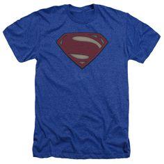 Batman vs Superman Movie Logo Adult Poly/Cotton Tee - Royal Blue