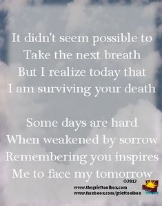 In grief remembering you inspires me | The Grief Toolbox