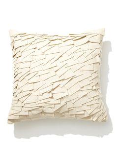 felt ruffle pillow | design accents