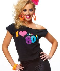 Womens I Love The 80s Shirt: Clothing