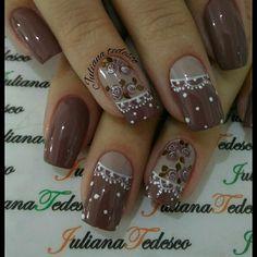 Manicure Y Pedicure, Mani Pedi, Diy Nail Designs, Flower Nails, Black Nails, Gorgeous Nails, Nail Arts, You Nailed It, Nail Colors