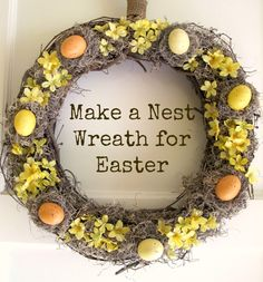Nest Wreath tutorial ~ and a bit of history Did u know wreaths are an……. #bHomeApp