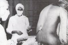"Tuskegee Syphilis Experiment (1933) When asked why they had to receive several ""back shots""(spinal taps), researchers repeatedly lied to the men, claiming theshots were .""therapeutic"" when in fact the spinal taps gaveinsight to infection from the spinal canal into the brain.I think there is a book about it called: The immortal Life of Hennrietta Lack, she being one of the first."