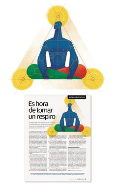 Hugo Herrera: Femsa Informa Magazine #56, Spot llustration: 'Our pace of life often leads us to lose control, what do we need to be the masters of our own emotional boat?'