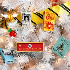 Diy harry potter christmas tree - karen kavett christmas ornaments in Harry Potter Christmas Decorations, Harry Potter Ornaments, Harry Potter Christmas Tree, Hogwarts Christmas, Harry Potter Halloween, Harry Potter Nursery, Dobby Harry Potter, Harry Potter Theme, Harry Potter Birthday