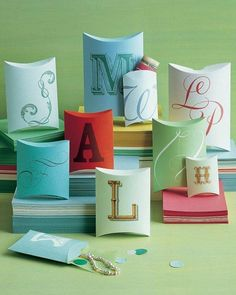 Monogrammed Boxes How-To