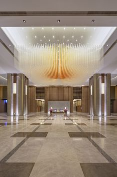 Get to know the best interior design ideas for your hotel decor. Fall in love and get inspired by the most dazzling modern lighting ideas that will elevate your hotel lighting Lobby Interior, Interior Exterior, Interior Lighting, Exterior Design, Modern Interior, Commercial Interior Design, Commercial Interiors, Floor Design, Ceiling Design