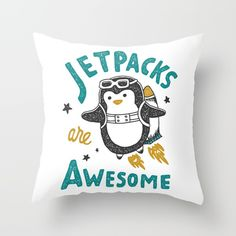 Check out society6curated.com for more! @society6 #illustration #home #decor #homedecor #interior #design #interiordesign #buy #shop #shopping #sale #apartment #apartmentgoals #sophomore #year #house #fun #cool #unique #gift #giftidea #idea #pillows  #dorm #penguin #cute #penguins #animals #jetpacks #funny #jetpack #awesome #text #lettering #typography