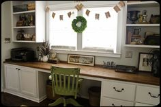 Cottage of the Month February 2013  Marian Parson's charming home...love her new office.