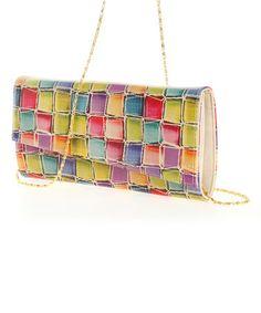 Love this Rainbow Geo Envelope Clutch on #zulily! #zulilyfinds
