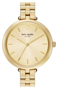 Free shipping and returns on kate spade new york 'holland' bracelet watch, 34mm at Nordstrom.com. Slim, numberless indexes feminize the clean, minimalist dial of this sleek watch inspired by classic Dutch designs.