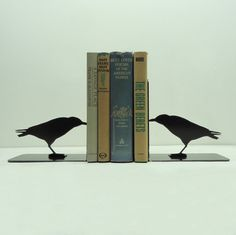 Raven Metal Art Bookends  Free USA Shipping by KnobCreekMetalArts, $46.99