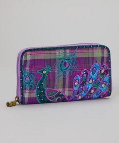 Look at this #zulilyfind! Purple Peacock Wallet by Karma #zulilyfinds