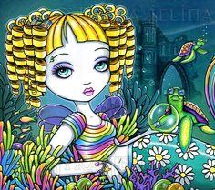 http://www.ebay.com/itm/Mermaid-Art-Rainbow-Sea-Turtle-Fae-Sandy-Ltd-Edition-CANVAS-Embellished-8x10-/311453124271?hash=item48840d86af