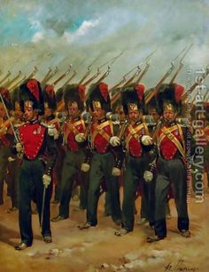 French soldiers marching Henri-Louis Dupray | Oil Painting Reproduction | 1st-Art-Gallery.com